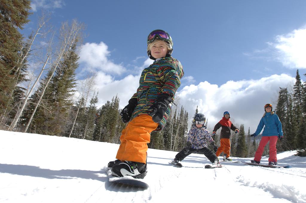 boy snowboarder colorado kids ski resort